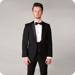 black burgundy wedding tuxedo NZ - 2019 Latest Coat Pant Designs Groom Tuxedo Black Men Blazer Suit Wedding Man Jacket 3Piece Costume Homme Mariage Shawl Lapel Evening Party