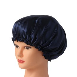 $enCountryForm.capitalKeyWord Australia - cover s 1PC New Style Women Night Sleep Hat Long Hair Care Chemo Cap Satin Bonnet Cap Head Wrap Covers