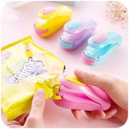 Toptan satış Plastik Poşet Saklama Kabı Depolama Mutfak Araçları Paketleme Çanta Isı Sealer Mini Isı Kapama Makinesi Ev Impulse Sealer Seal GGA1655