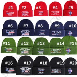 $enCountryForm.capitalKeyWord Australia - Trump 2020 Beanies Knit Winter Hats Embroidered Keep America Great Letters Warm Knitting Caps Hip Hop Crochet Skull Hat for Women Men C82101