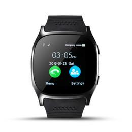 Venta al por mayor de Bluetooth Smart Watch T8 LBS Ubicación Pantalla táctil Smartwatch con SIM TF Slot Cámara Sincronización Llamada Mensaje Hombres Mujeres Reloj para teléfono Android