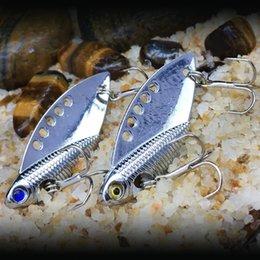 6.5cm Fishing Lure Australia - 1pcs 5cm 11g VIB Spoons Fishing Hooks Fishhooks 6# Hook Metal Baits & Lures Artificial Bait Pesca Fishing Tackle Accessories