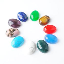 Wholesale WOJIAER Natural Verde Jade Contas Oval CAB Cabochon Beads 13x18 milímetros Semi-precious Fit Jóias Artesanais Mulheres Homens DBU801