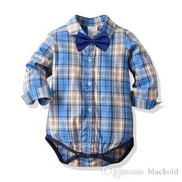 romper infant Australia - designer Kids clothes baby boy clothes baby romper bow tie baby boy onesies Summer cotton Romper Infant Jumpsuit Boy Rompers