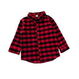 $enCountryForm.capitalKeyWord Australia - Ins Plaid Girls Shirts Kids Shirts Long Sleeve T Shirts kids designer clothes girls tops Spring Autumn kids clothes girls clothes A6741