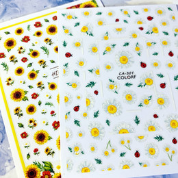$enCountryForm.capitalKeyWord Australia - Newest CA-301-302-459-460 daisy sunflower 3d nail art sticker nail decal stamping export japan designs rhinestones decorations