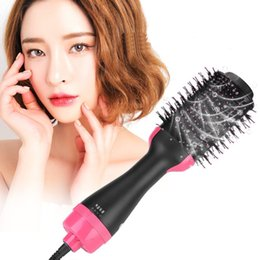 hair curler hot NZ - Professional One Step Hair Dryer brush volumizer 2 in 1 straightener and curler Hot Air Curling iron Rotating Rollers Comb