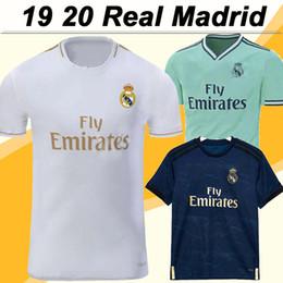 Discount real uniform - 19 20 Real Madrid MODRIC BENZEMA Soccer Jerseys MARIANO SERGIO RAMOS KROOS Home Away 3RD Mens Football Shirts ISCO BALE