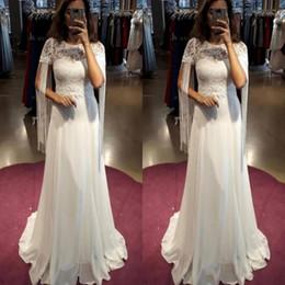 $enCountryForm.capitalKeyWord Australia - Simple Country Style Wedding Dresses With Tassel A Line Short Sleeves Vintage Wedding Gowns Chiffon Back Zipper Cheap Beach Bridal Dress
