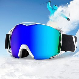 Adult Ski Goggles Australia - Adult Ski Glasses Dual Layer Anti-fog Lens UV400 Protection Foldable Frame Snowboard Goggles Anti-snow Nonslip For Hiking Cyclin