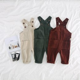 $enCountryForm.capitalKeyWord Australia - Baby Pants Overalls Autumn Strap Pants Kids Girls Corduroy Cotton Suspenders Overalls Baby Belt Pants Toddler Girl Boy Jumpsuit