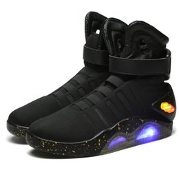 $enCountryForm.capitalKeyWord Australia - Adults Usb Charging Led Luminous Shoes For Men's Fashion Light Up Casual Men Back To The Future Glowing Sneakers Free Shipping MX190727
