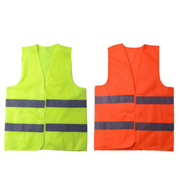 safety work clothing NZ - Reflective Stripe Traffic Vests Working Clothes High Visibility safety Vest Sanitation Worker Assistant Police Home Clothing OOA7523-1