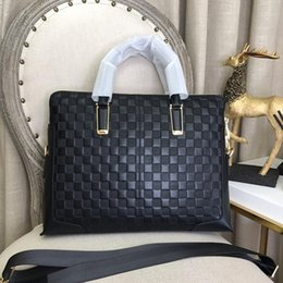 Luxury business briefcase man online shopping - designer luxury purse handbag man business briefcases classical men real leather high quality purse men bag