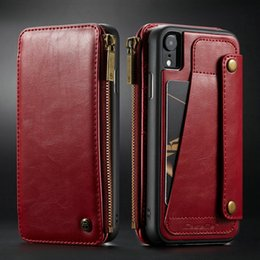 $enCountryForm.capitalKeyWord Australia - Wallet Case For Iphone Xr Xs Max Wallet Zipper Card Holder Leather Flip Back Case For Iphone Xs Max Detachable Phone Case