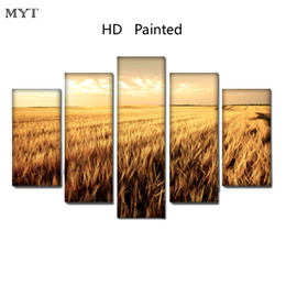 scenery spray painting Australia - Wall decor HD spray Printed Oil Painting on canvas Wheat field scenery home decor for Living Room Wall art picture on Canvas no framed