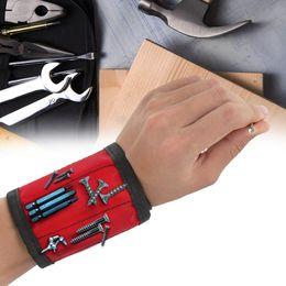 $enCountryForm.capitalKeyWord Australia - 1pcs Magnetic Wristband Hand Wraps Tool Bag Adjustable Electrician Wrist Screws Nails Drill Holder Belt Bracelet for Home Repair