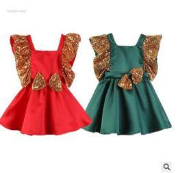 $enCountryForm.capitalKeyWord Australia - Kids Designer Clothes Girls Sequins Dress 2019 Summer Baby Girl Ruffles Short Sleeve Sequins Bow Dress Children Girl Birthday Party Dress