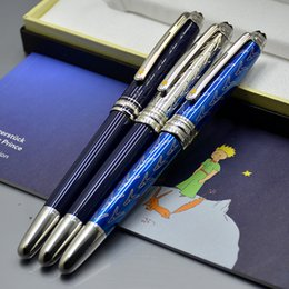 Pen sPecial edition luxury online shopping - Luxury Special Edition Little Prince MB Roller Ball Pen School Office Supplies Brand Gift Pens With Serial Number Carving
