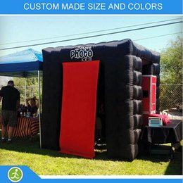 portable photo tent Australia - Inflatable Photo Booth Portable Black Used for Wedding Party Event 2.4m * 2.4m * 2.4m