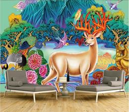 $enCountryForm.capitalKeyWord Australia - WDBH 3d wallpaper custom photo European style forest elk tv background living room home decor 3d wall murals wallpaper for walls 3 d