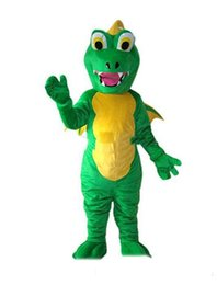 Wholesale adult size dragon costume online – ideas 2019 High quality new Dinosaur Fire Breathing Dragon Mascot Costume Fancy Party Dress Halloween Carnival Costumes Adult Size