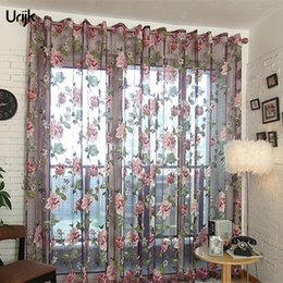 $enCountryForm.capitalKeyWord NZ - Sheer Curtains Classic Flower Sheer Curtains Window Screen Transparent Tull Curtain Embroidery Tulle Fabric Curtains for Living Room Balcony