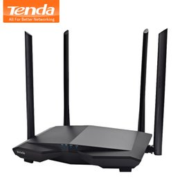 Discount dual band high gain antenna - Tenda AC6 1200mbps Wireless Wifi Router Dual Band 2.4Ghz 5.0Ghz 4*6dBi High Gain Antennas 11AC Smart Wifi APP Manage