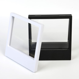 China 180*200*20mm Clear PET Membrane box Holder Floating Display Case Earring Gems Ring Jewelry Suspension Packaging Box supplier wholesale clear plastic display cases suppliers