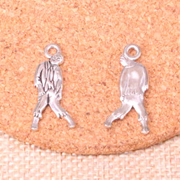 zombie pendants Australia - 107pcs Charms walking dead zombie corpse Antique Silver Plated Pendants Fit Jewelry Making Findings Accessories 12*27mm