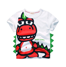 $enCountryForm.capitalKeyWord UK - Wholesale Children's clothes Summer Boys Cute Dinosaur Printed Short-sleeved T-shirt Cotton kids Tops for 3-8 years old,B05