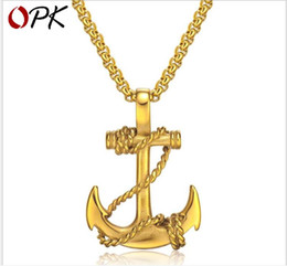 $enCountryForm.capitalKeyWord Australia - Anchor Cross Pendant Titanium Steel Men's Necklace