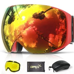 $enCountryForm.capitalKeyWord Canada - COPOZZ Magnetic Ski Goggles with Quick-change Lens and Case Set 100% UV400 Protection Anti-fog Snowboard Goggles for Men & Women
