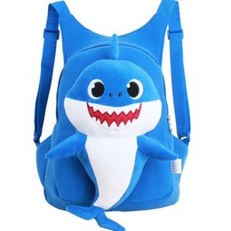 Girl S Toys Australia - Baby Shark Plush Backpack Soft Toys School Bag Animal Toy Backpack Mini Cartoon Preschool Bag for Children Girls Boys