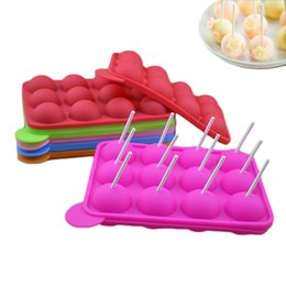Chinese  3d Lollipop Mold Heart Cake Pops Maker Candy Bar Chocolate Mold Ice Cube Pastry Accessories Baking Supply Tray Silicone Mould SH190713 manufacturers