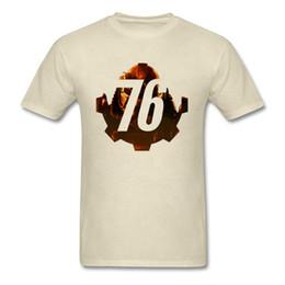 Gamers T Shirts Australia - Men T-shirt Military Fallout 76 Tshirt 2019 Funky RPG Gamer T Shirts Cotton Beige Tops Great War New Vegas Tees Summer New
