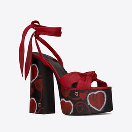 $enCountryForm.capitalKeyWord Australia - Summer Runway Black Red Brown Golden Leather Knotted Platform Sandals Women Sexy Open Toe Block High Heels Ankle Strappy Party Dress Shoes