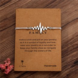 $enCountryForm.capitalKeyWord Australia - Silver Charm Heart Love Best wish Card Bracelets Red Black Navy Blue Wax Cord Women Men Unisex Boy Girl Jewelry factory wholesale