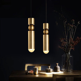 Kitchen Shops NZ - Nordic Brass Pendant Lamp Modern Kitchen Lamp Dining Room Bar Counter Shop Pipe Pendant Down Tube LED Lights office Livingroom - RNB62