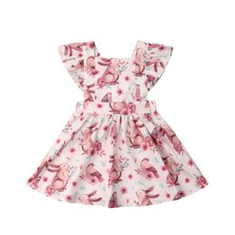 dfc091f9d228 Toddler Kids Baby Girl Dress Easter Bunny Dress Infant Girl Clothes Rabbit  Print Party Little Clothing Summer 2019