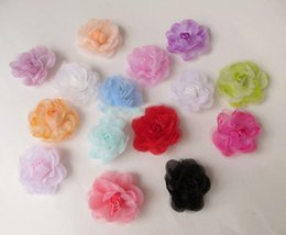 Artificial Hair Clips Australia - heads artificial s head Small tea rose with chiffon yarn simulation flower artificial flower hairpin side clip hair diy flower c