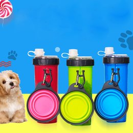 $enCountryForm.capitalKeyWord Australia - Portable Dog Food Water Bottle with Folding Bowls Pets Outdoor Travel Feeders Cats Puppy Supplies
