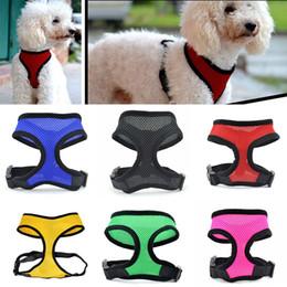 MediuM dog Mesh vest harness online shopping - Nylon Pet Mesh Harness Soft Net Dog Mini Vest Adjustable Breathable Puppy Harness Dog Supplies Free DHL WX9