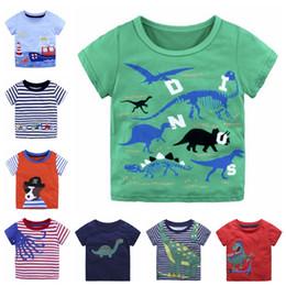 Baby Girls Shirts Design Australia - Kids T Shirt Appliqued Baby Boy Shirts Cotton Baby Girls Tees Short Sleeve Children Tops Summer Kids Clothing 39 Designs YW2391