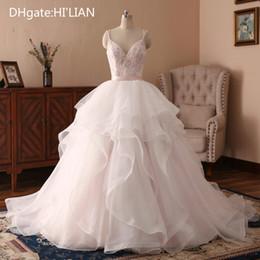$enCountryForm.capitalKeyWord Australia - White Ivory Wedding Dresses Princess Beads Wedding Gowns Spaghetti Vestido de Novia Robe de Mairee Tulle Bridal Gowns Formal Occasion
