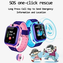 smart watch android monitor NZ - Children's Smart Watch SOS Mobile Phone Watch Smartwatch Waterproof IP67 Child Gift with Sim Card Photo for IOS Android