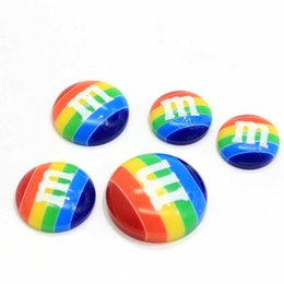 craft embellishment wholesale Australia - 2019 Hot Japan 25 MM Rainbow Chocolate M Cabochons Kawaii Flatback Cabochons for Cellphones Embellishment Crafts Scrapbooki