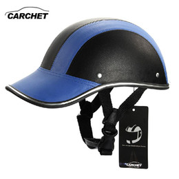 $enCountryForm.capitalKeyWord Australia - CARCHET Motorcycle Helmet Adjustable Motocross Half Open Face Helmets Soft Baseball Cap Style Bike Helmet 7 Color 55-60CM HOT