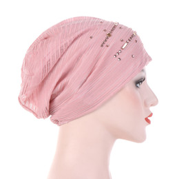 b98d7e5f736 Muslim Womens Stretch Breathable Drill Cotton Beanies Turban Hat Cancer  Chemotherapy Chemo Cap Hair Loss Accessories