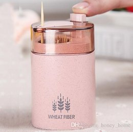 $enCountryForm.capitalKeyWord Australia - Automatic Toothpick Holder Container Wheat Straw Household Table Toothpick Storage Box Toothpick Dispenser